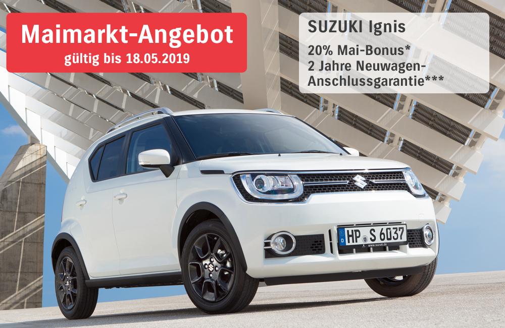 Maimarkt-Angebote Suzuki Ignis | Autohaus Braun Lampertheim-Hüttenfeld