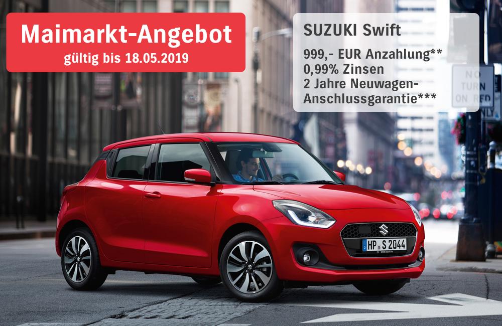 Maimarkt-Angebote Suzuki Swift | Autohaus Braun Lampertheim-Hüttenfeld