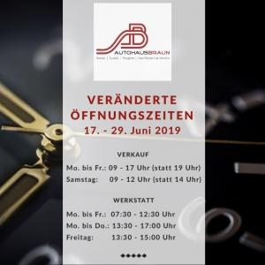 Veränderte Öffnungszeiten | Autohaus Braun Lampertheim-Hüttenfeld